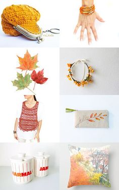 Orange Autumn by Manuela on Etsy. 8th happy blitzing, accessories, autumn, autumn finds, autumn trends, etsyeur, fall, fall trends, fall winter, fas team, fashionandstyle, for her, for home, gift guide, leaves, november, orange, top trendy --Pinned with TreasuryPin.com