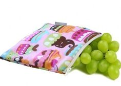 Itzy Ritzy - Snack Happened Reusable Snack Bag - Cupcake Couture