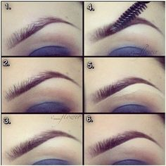 Eyebrow tutorial - use a light concealer on the bottom of the eyebrow - draw in the bottom, defining line - fill/blend above