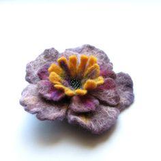 Felted Flower Brooch -- Felt Brooch -  Flower Pin - Christmas Gift
