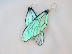 Fairy Wing Resin Earrings by DelightfullyTwisted on Etsy
