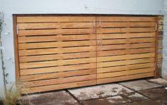 Storage with iroko doors