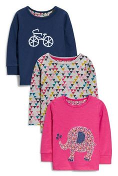 Buy Three Pack Elephant Applique T-Shirts (3mths-6yrs) from the Next UK online shop