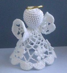 Best 12 Ravelry: Worry Angel pattern by Eric Elson – SkillOfKing. Crochet Christmas Decorations, Crochet Ornaments, Christmas Crochet Patterns, Crochet Snowflakes, Angel Ornaments, Christmas Knitting, Christmas Crafts, Crochet Angel Pattern, Crochet Angels
