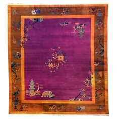 Chinese Art Deco Rug | From a unique collection of antique and modern chinese and east asian rugs at https://www.1stdibs.com/furniture/rugs-carpets/chinese-rugs/