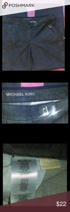 Michael Kors trouser leg jeans 100% cotton 33L Michael Kors Ladies sz 16W 16 trouser leg jeans 100% cotton Michael Kors Jeans Flare & Wide Leg