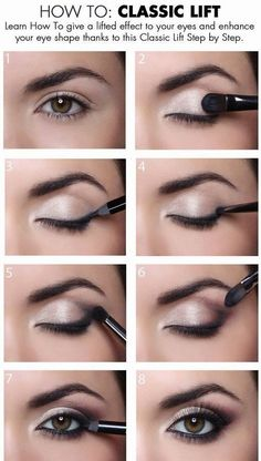 When it comes to eye make-up you need to think and then apply because eyes talk louder than words. The type of make-up that you apply on your eyes can talk loud about the type of person you really are. It doesn't really matter if y Eye Makeup Tips, Skin Makeup, Makeup Ideas, Makeup Tricks, Makeup Products, Eye Makeup For Hazel Eyes, Makeup Brands, Eye Shadow Hooded Eyes, Makeup Kit