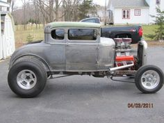 "1930 Ford Model A Coupe w/283 2x4bbl tunnel-ram V8, 350 turbo auto, 3.31 9"" axle"