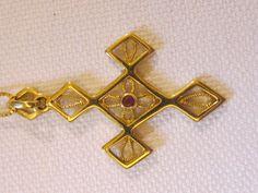 Pendente croce oro giallo