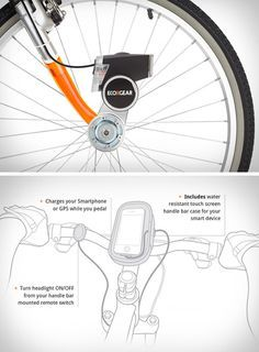 Awesome! Charge your #phone while pedaling your #bike ...