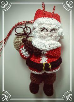 Weihnachtsmann mit Sack (zum Aufhängen)