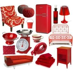 Love reds for  the kitchen!