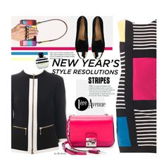 """""""New Year's Style Resolution by Joseph Ribkoff"""" by beebeely-look ❤ liked on Polyvore featuring Joseph Ribkoff, Michael Kors, Dsquared2, Marc Jacobs, stripes, SpringStyle, styleresolution, premiereavenue and JosephRibkoff"""
