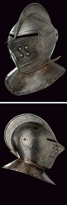A closed helmet,    provenance:	 	Holland dating:	 	second quarter of the 17th Century.