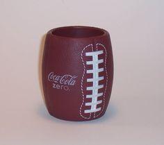 Coca-Cola Zero football can koozie