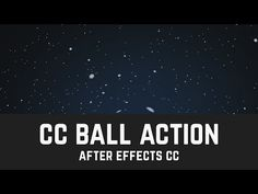 T006 Space Background in After Effects (CC Ball Action) - YouTube