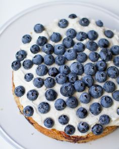 Frosted Blueberry Cake. Vegan slice of spring. - Healthy. Happy. Life.