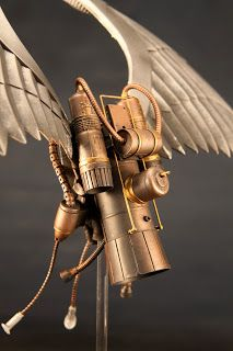 packratstudios: SteamPunk Archangel - Marvel Legends; jump pack/wings would make a great addition to a sanguinius conversion...