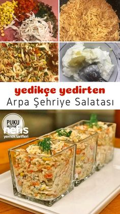 Tabak Tabak Yedirten Tavuklu Arpa Şehriye Salatası – Nefis Yemek Tarifleri How to Make Barley Noodle Salad Recipe with Chicken Yummy Recipes, Salad Recipes, Yummy Food, Pasta Recipes, Healthy Recipes, Perfect Salad Recipe, Avocado Soup, Puff Pastry Sheets, Savory Tart