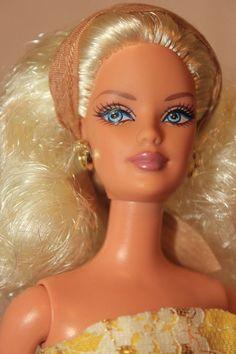 Lemony Blond Full Head Side Glance Mackie Face Barbie Doll Reroot OOAK #Mattel