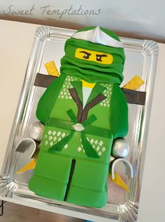 Lego Ninjago Lego Ninjago Lloyd cake for birthday twins.