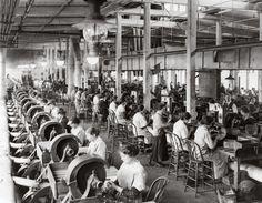 American women making Browning machine guns during WW1. 1918-19