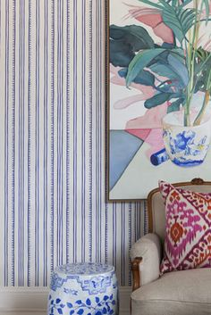 Anna Spiro has applied her flair for layering fabrics with diverse and inspiring pattern and colour, to wallcoverings.