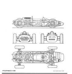 Porsche 804 blueprint Porsche 804, Grand Prix, Car Prints, Blue Prints, Diy Go Kart, Racing Simulator, Nursery Decals, Car Illustration, Vintage Race Car