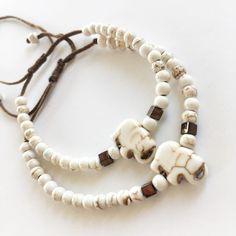 Βραχιόλι καλοκαιρινό με τυχερό ελέφαντα lucky charm από χαολίτη | Βραχιόλια στο jamjar Summer Accessories, Beaded Necklace, Jewelry, Beaded Collar, Jewlery, Pearl Necklace, Jewerly, Schmuck, Beaded Necklaces