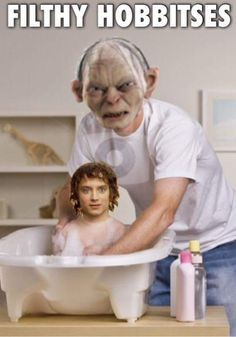 Filthy hobbitses. - this made me laugh so hard, oh wow