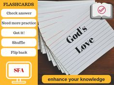 Illustration-God's Love Flashcards-text-buttons