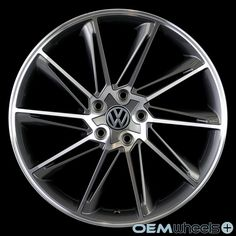 "VW101 19"" GunMetal Machined Face ET45 Wheels Set"