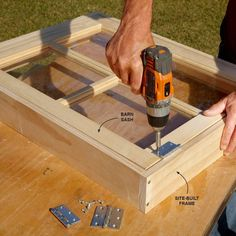 Save Money With Barn Sash Windows - DIY Storage Shed Building Tips: http://www.familyhandyman.com/sheds/diy-storage-shed-building-tips#13