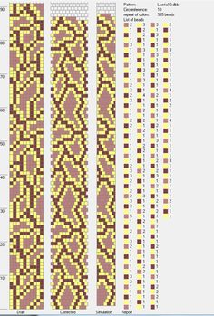 Circumference 10, repeat colour 305 beads.