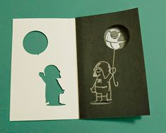Awesome SVGs: Baby Darth Layered Birthday Card