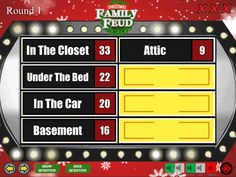 Christmas family feud powerpoint template more details if you want christmas family feud powerpoint template more details if you want people to be able to buzz in here are some simple game buzzers and here is a s maxwellsz