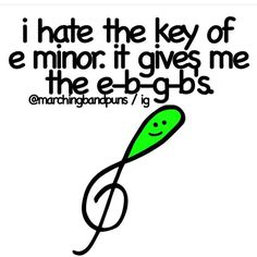 Key of E minor gives me the e b g b s lol
