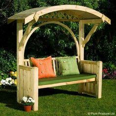 Woodworking For Beginners Pallets 45 Garden Arbor Bench Design Ideas & DIY Kits You Can Build Over Weekend.Woodworking For Beginners Pallets 45 Garden Arbor Bench Design Ideas & DIY Kits You Can Build Over Weekend Garden Arbor, Diy Garden, Garden Care, Garden Ideas, Garden Benches, Outdoor Benches, Garden Seating, Outdoor Pergola, Garden Bridge