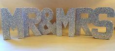 MR & MRS Glitter letters, silver - Bridal Shower, Wedding, Home Decor, Bachelorette Party, Glam, Photo Prop, Paper Mache Letters on Etsy, $65.00