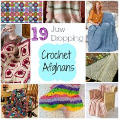 19 Jaw Dropping #Crochet Afghan Patterns via Stitch and Unwind