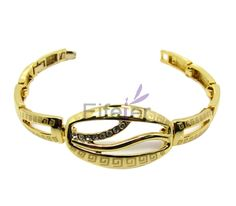 Classical fashion gold royal style bracelets with white small crystals for elegant lady