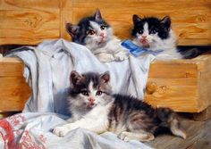 Julius Adam, The Playful Kittens