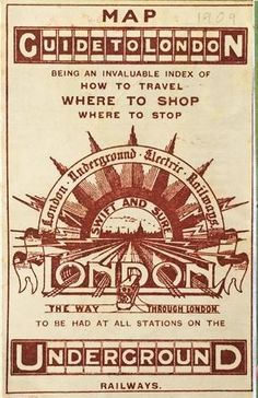 Are trains electric? - You bet they are. Look at all that sparky electricity fizzing out of this 1909 Underground map. It's quite charming inside too: Transport Map, Public Transport, Underground Map, Maps, London, Ephemera, Trains, Electric, Blue Prints