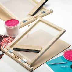 How to make your own Silkscreen Tutorial ~ theHANDrawn – Rom Salvar DIY