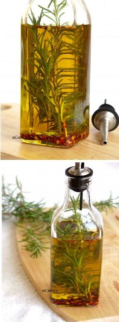 Rosemary Infused Olive Oil. Something you can make yourself but remember olive oil must be consume fresh.