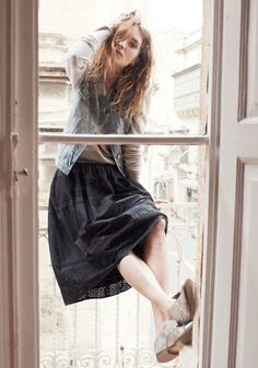 Jean Vest Madewell Spring 2014, Erin Wasson on location in Malta #denimmadewell
