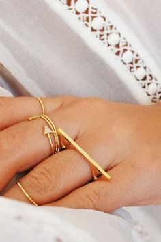 Gold Geometric Ring | STYLEADDICT.COM.AU