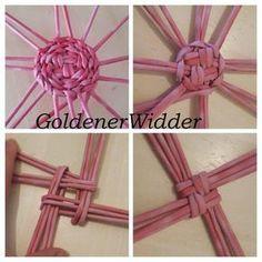 GoldenerWidder | ВКонтакте Paper Basket Weaving, Basket Weaving Patterns, Willow Weaving, Weaving Art, Newspaper Basket, Newspaper Crafts, Recycled Crafts, Diy And Crafts, Pine Needle Crafts