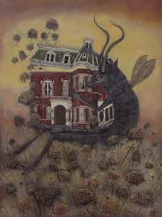 The Devil of Observation Oil on panel, 2011 14 x 18