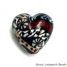 grace lampwork beads dakota quilt heart